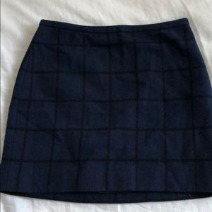 Madewell Wool Blend Lined Mini Skirt Size 0